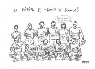 El fútbol es trata de blancas - Sistema de Monos