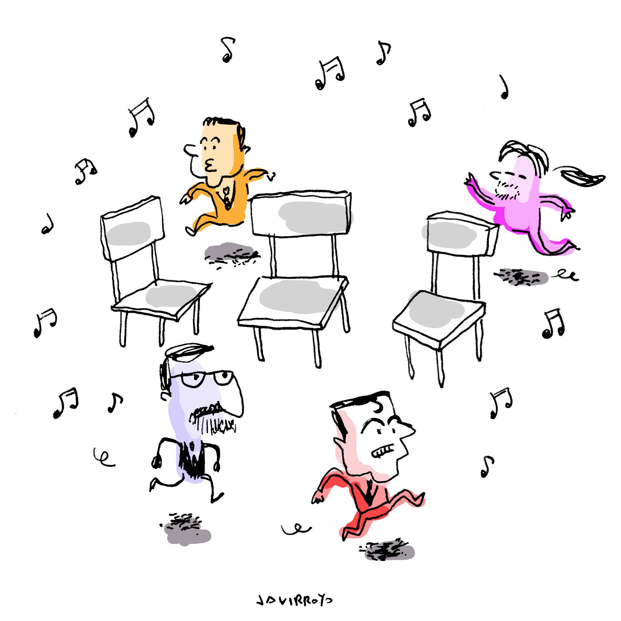 El estafador juego de sillas for Sillas para jugar a la play