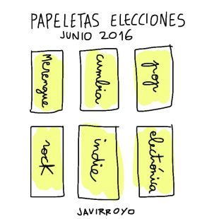 papeletas elecciones 2016