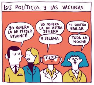 los políticos y las vacunas